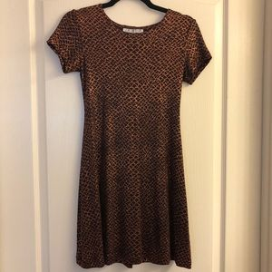 Copper Sparkly Dress. Size S